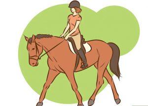menunggangi kuda